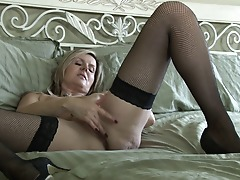 Sexy Canadian Milf shows her goods and masturbates