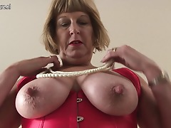 Horny British chubby mama getting highly dirty